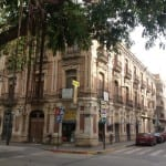 A building just off the square at Aguilas