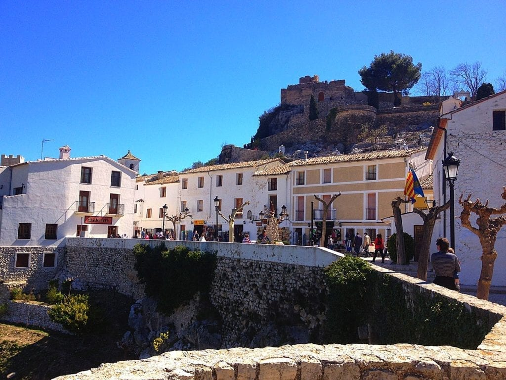 Guadalest Square and view point