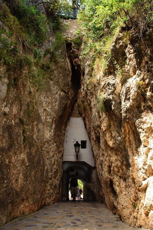 Entrance tunnel into Guadalest