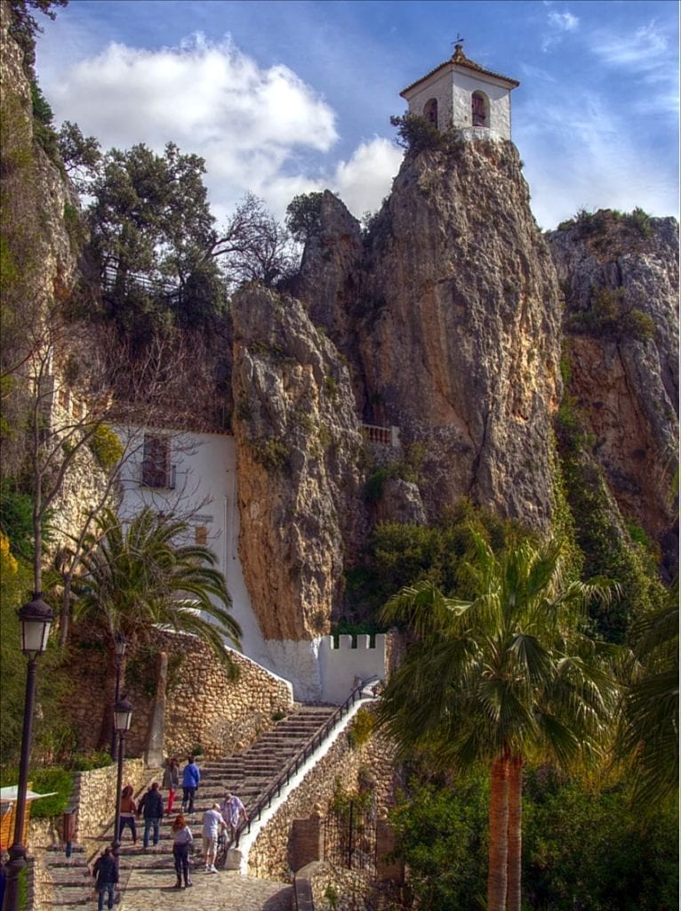 Steps leading up to Guadalest Castle