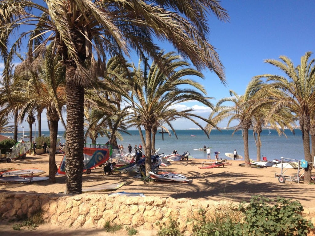 Beach outside the campsite gates La Manga