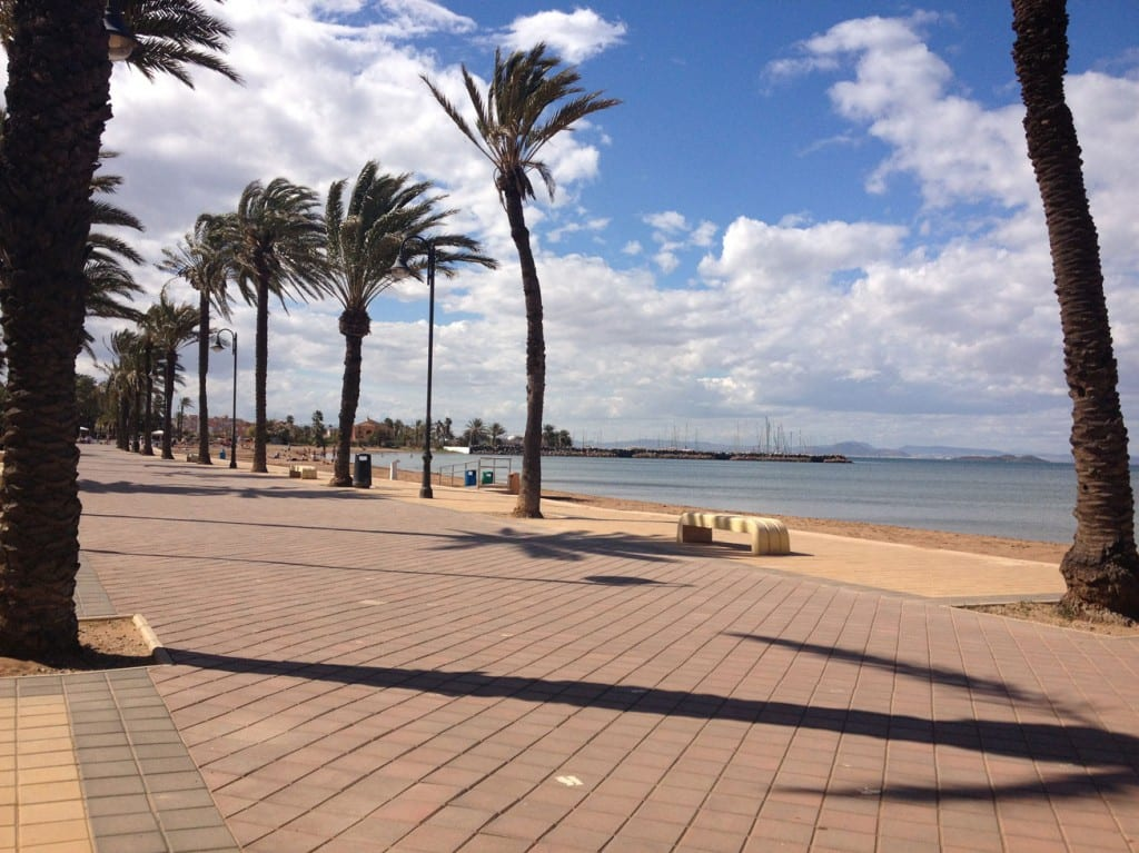 Promenade when you turn left outside the gates at La Manga