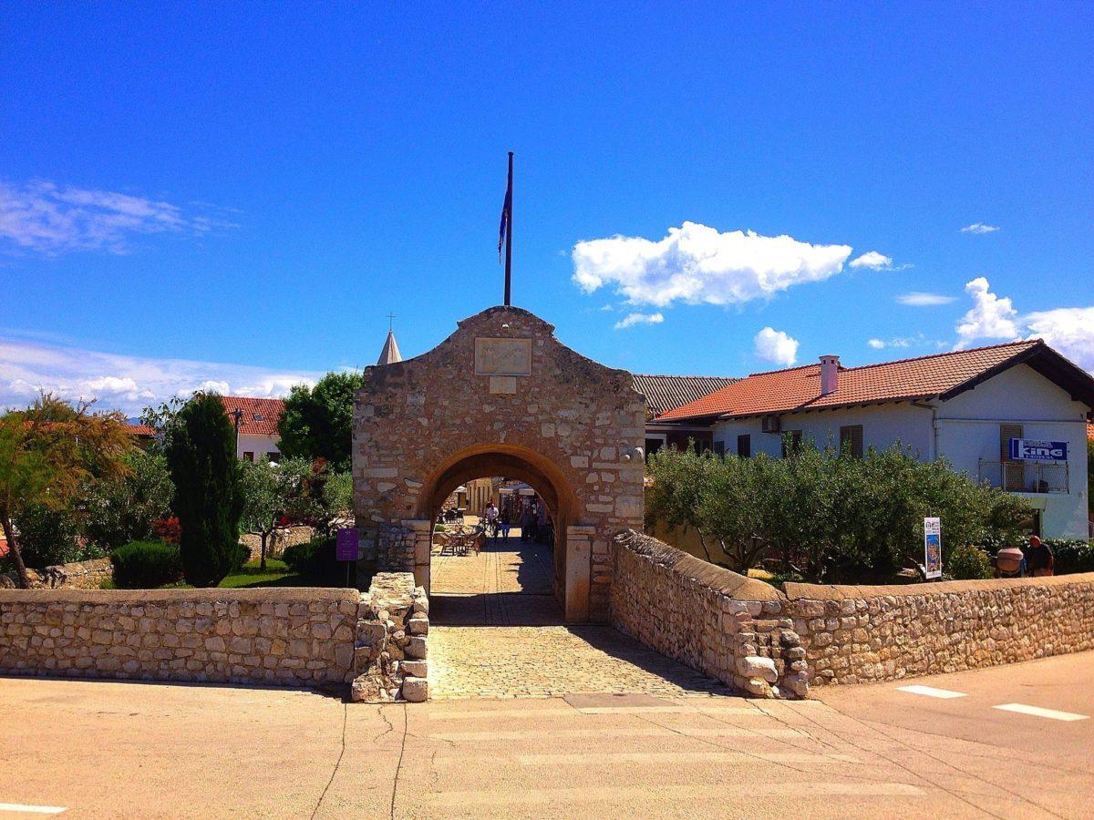 the Old Gate, Nin, Croatia