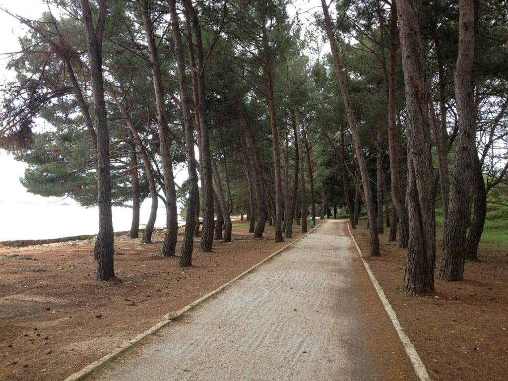 Path from Polari campsite to Rovinj