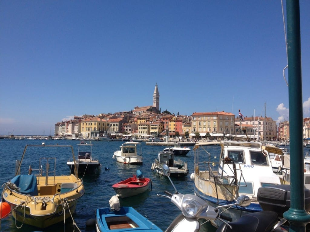 Looking over the bay to Rovinj