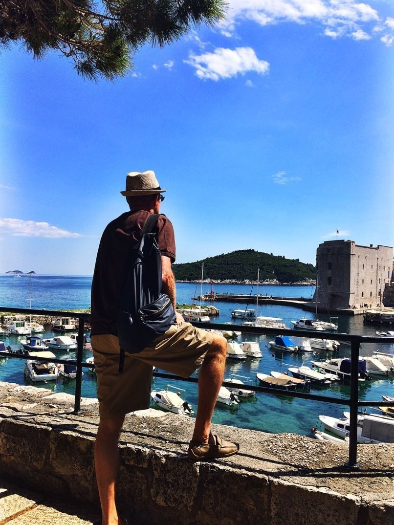 Ray looking over the bay Dubrovnik