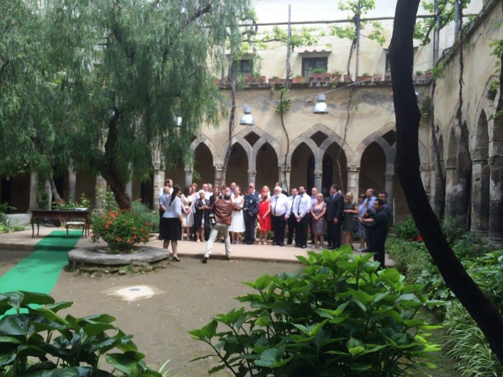 Wedding in the Cloisteer of Saint Francisco, Sorrento, Italy