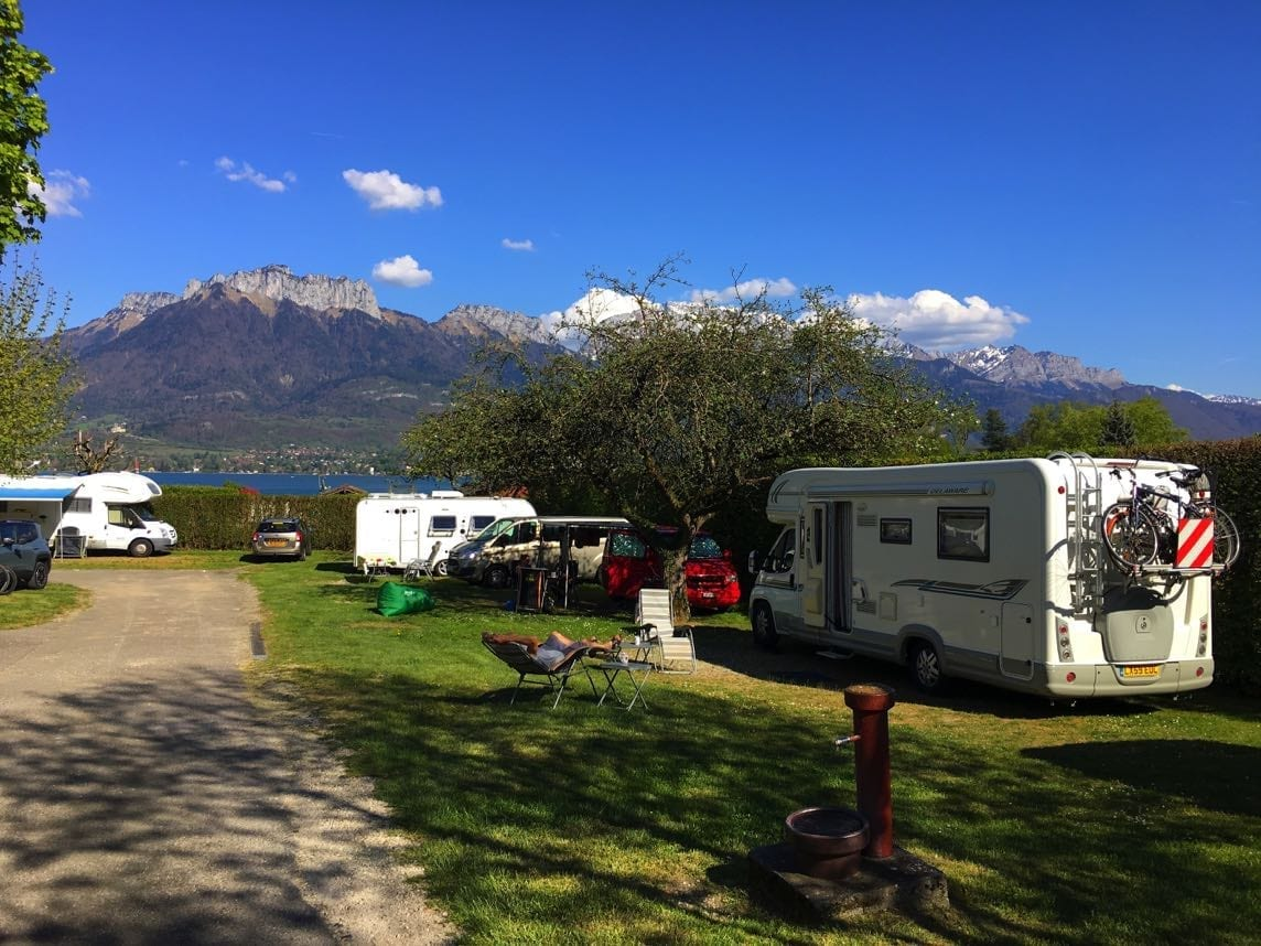 Campsite at Lake Annecy