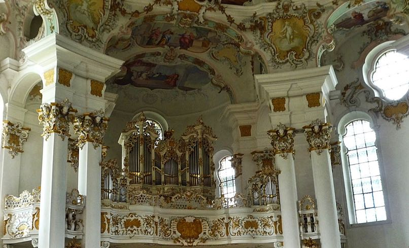 Interior of Wieskrch Church