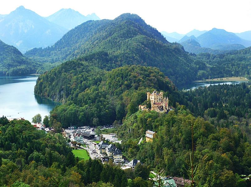 View of Hohenschwangau-Castle