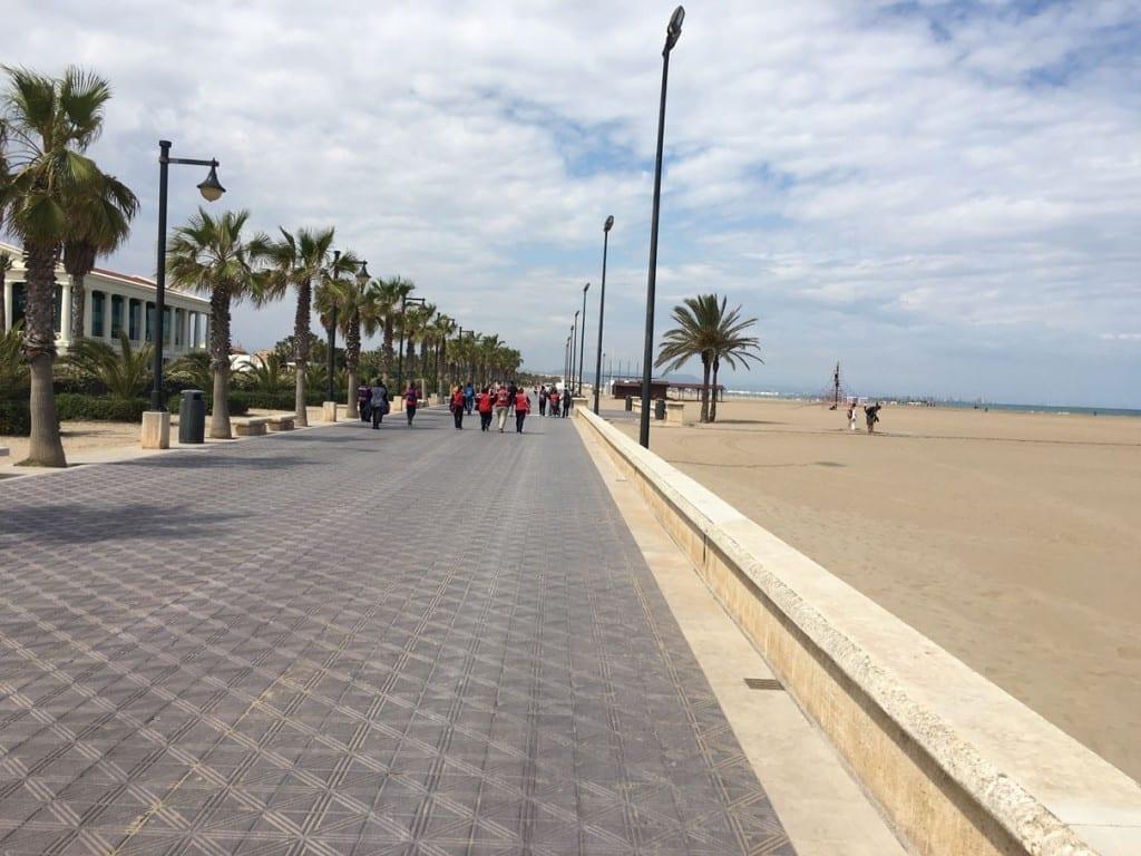 Promenade in Valencia