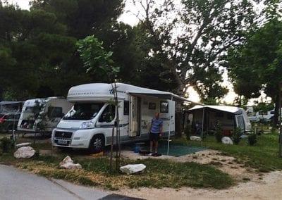 Split campsite