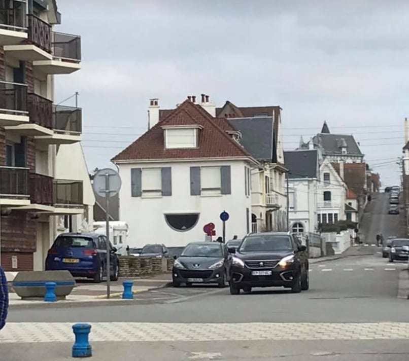 The kids loved this house which they called The Happy House in Wimereux
