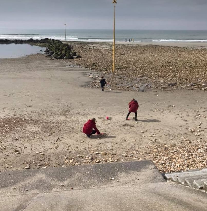 Sandcastles on the beach in Wimereux