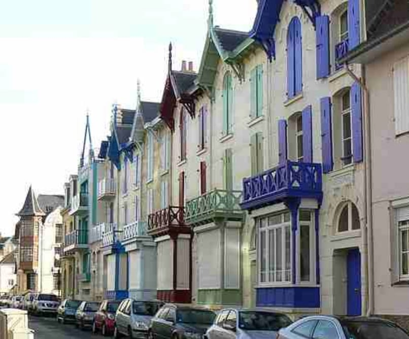 Colourful houses in Wimereux
