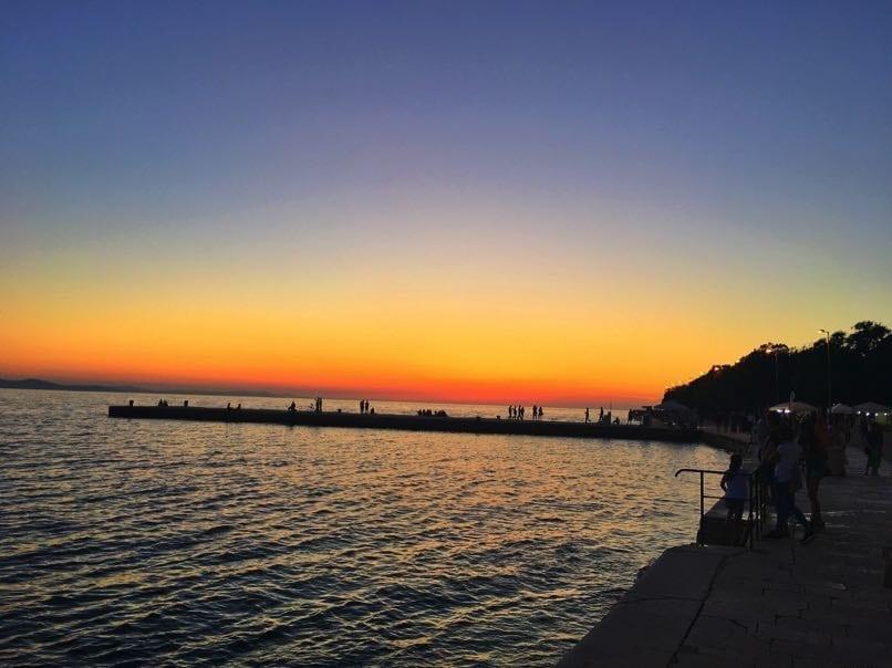 Beautiful Sunset in Zada
