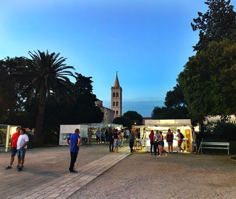 Zadar Market Stalls