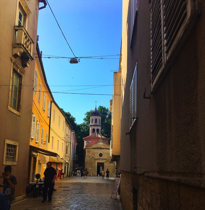 Zadar narrow streets