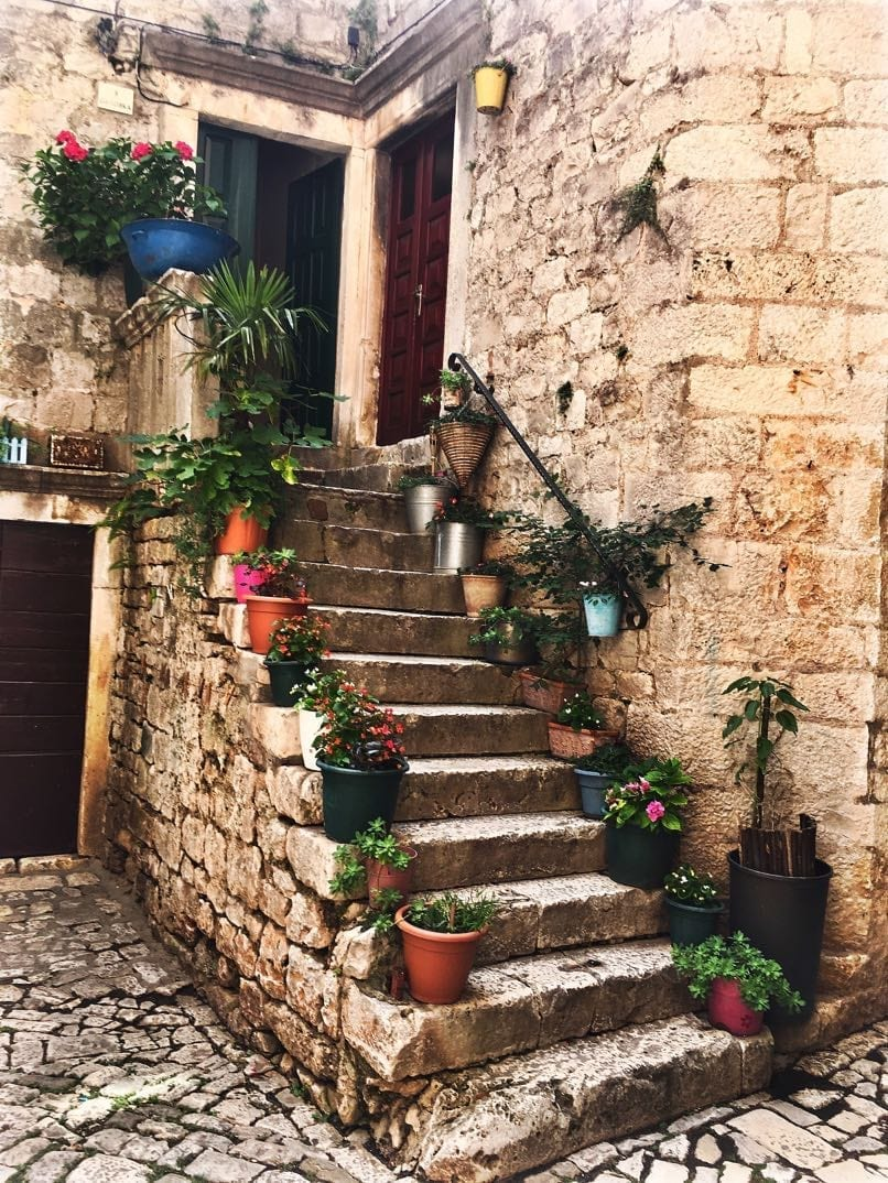 Restaurant window, Trogir