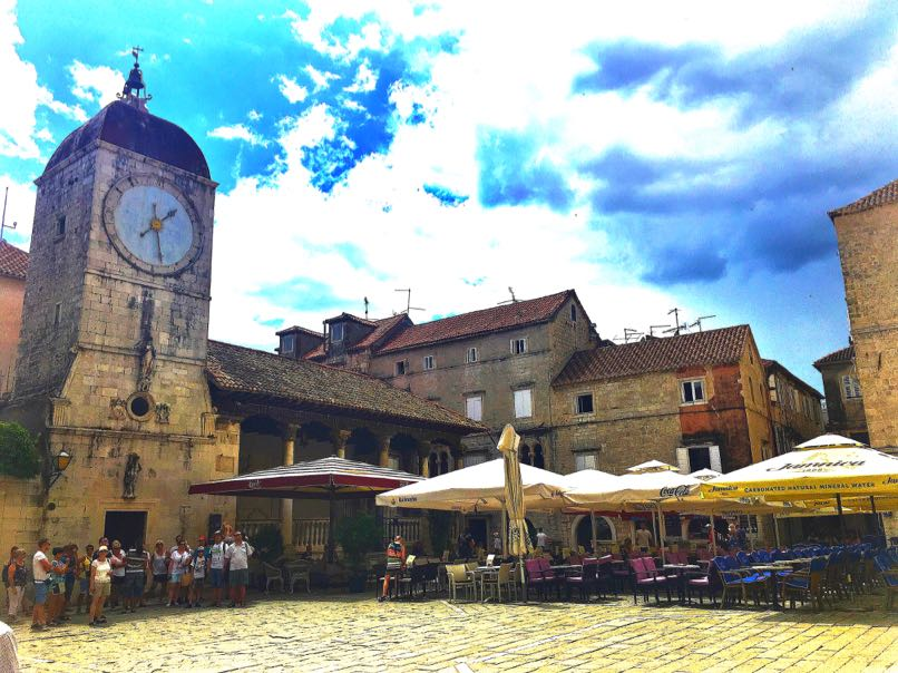 Trogir Central Square & Clock Tower