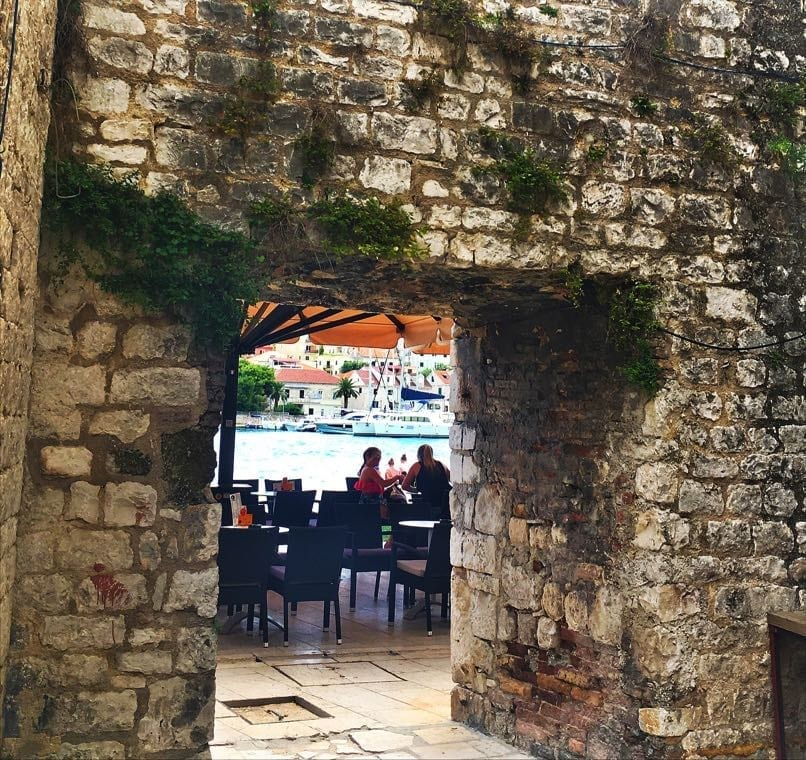 Trogir Looking through to waterfront
