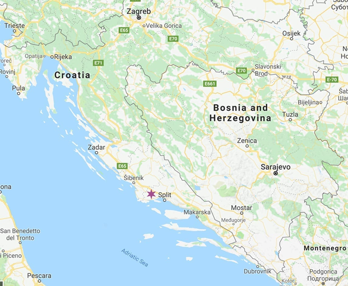 Trogir-map