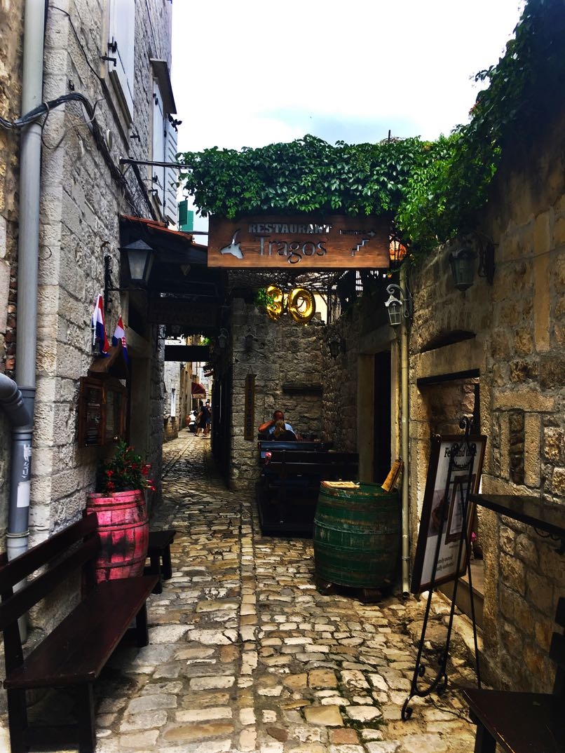 Trogir narrow alleyway