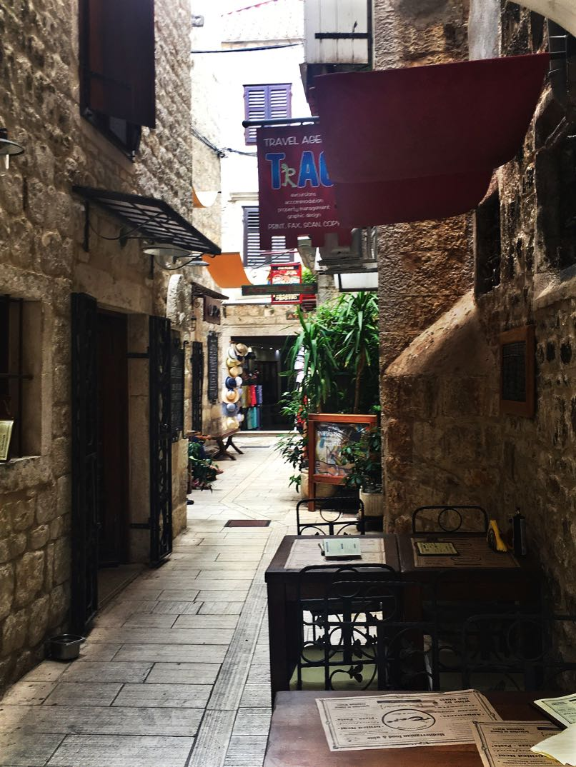 Trogir narrow street