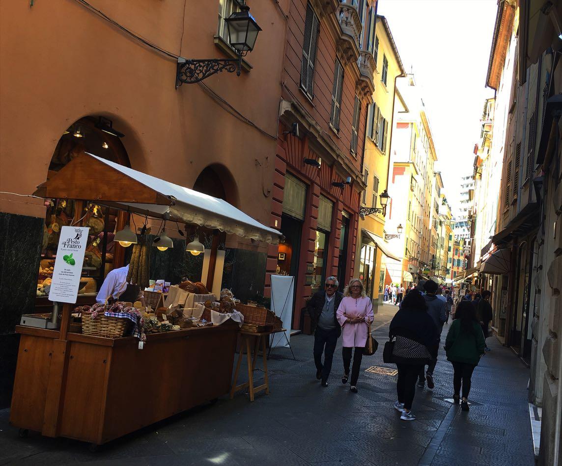 Rapallo narrow shopping streets