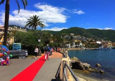 Red carpet in Rapallo, Italy