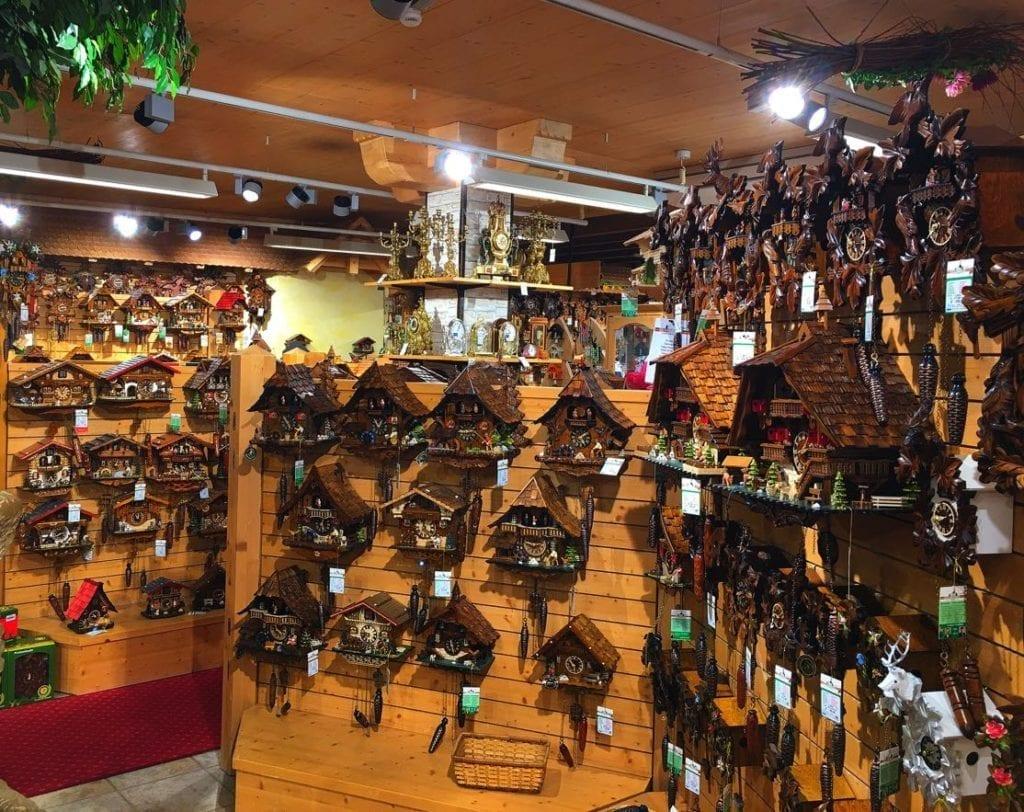 Shop full of cuckoo clocks in Triberg