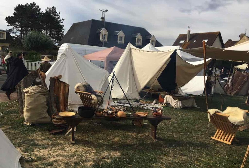 Encampment on the beach, Cider & Dragon Festival