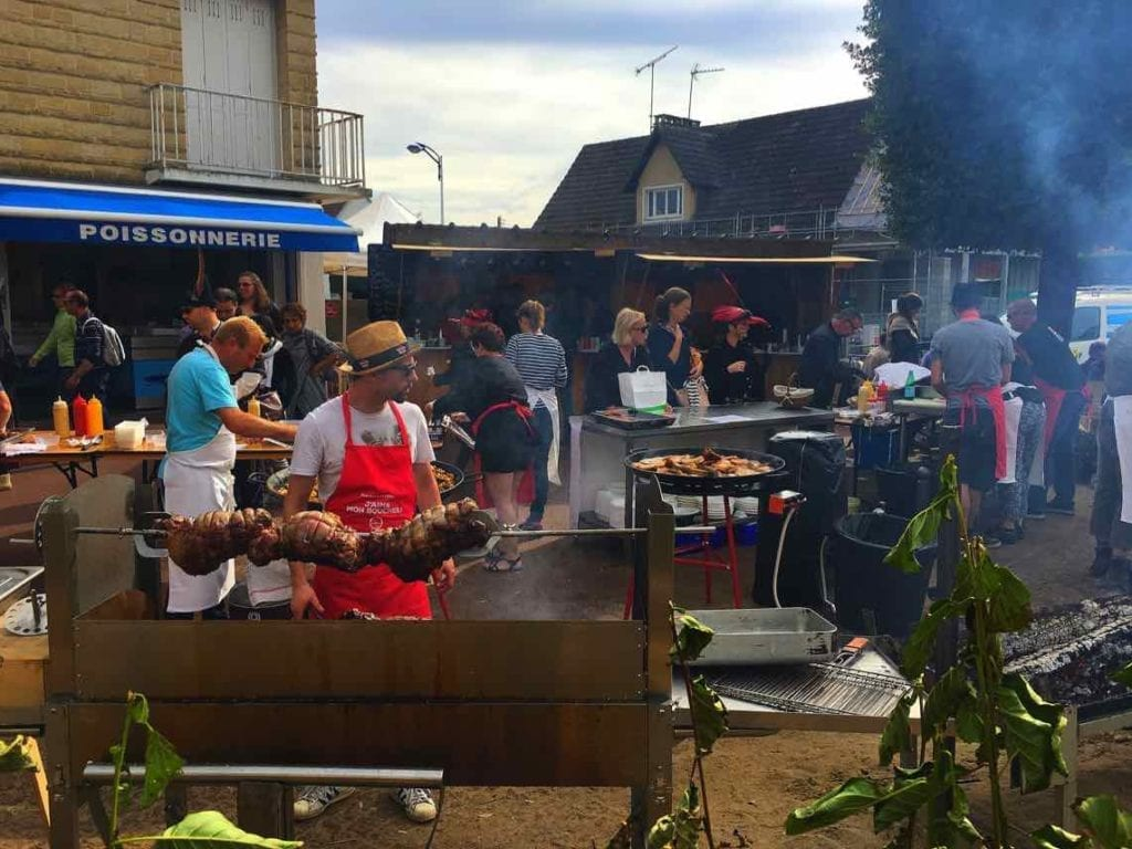 Food being cooked at Cider & Dragon Festival