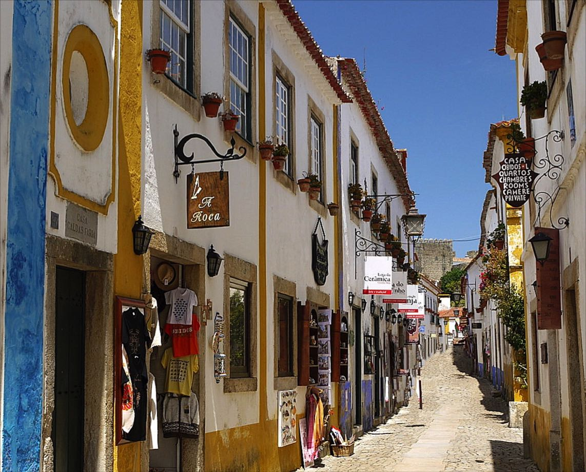 Obidos narrow streets-Portugal