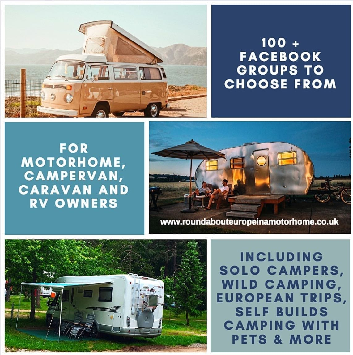 100+ Facebook Groups for Motorhomers