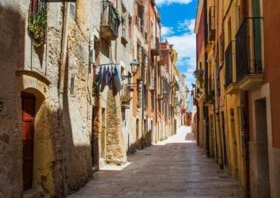 Old street in Cataluña, Tarragona